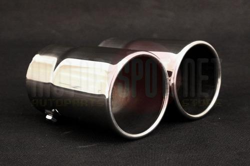 ponteira dupla chanfrada volvo xc60 s60 v60 r design +brinde