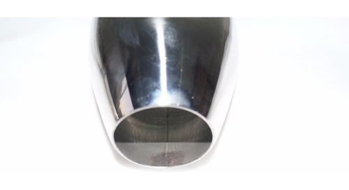 ponteira escapamento aço inox quadrada chanfrada p/ solda