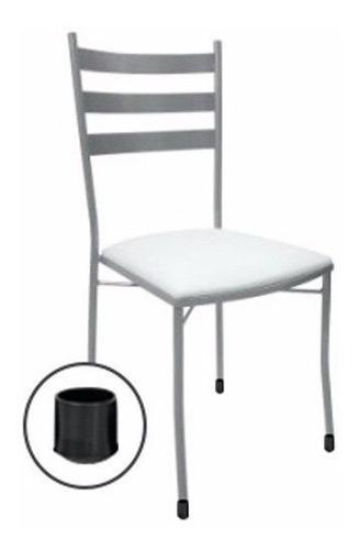 ponteira p/ cadeira borracha 1,1/4 (embalagem c/ 20) - preto