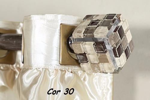 ponteira para varão de cortina pastilha 28mm
