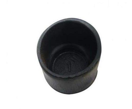 ponteira sapata redonda externa 1/2 de borracha - c/6 peças
