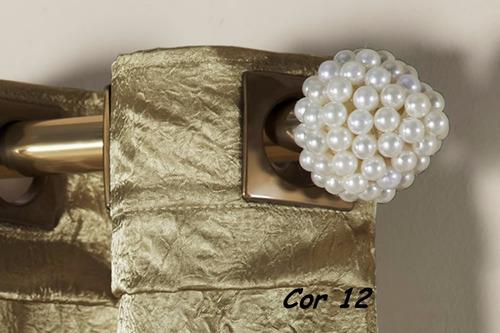 ponteira varão de cortina pérola 28mm
