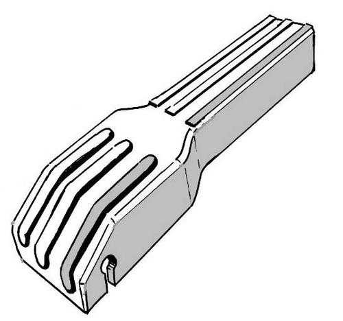 ponteiras p/ barra central capota perfil 20x20 4pçs