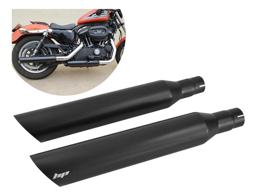 ponteiras sportster iron 883 - preto fosco - hp customs
