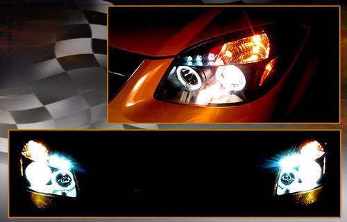 pontiac g4 g5 2004 - 2009 juego faros con ojo de angel negro