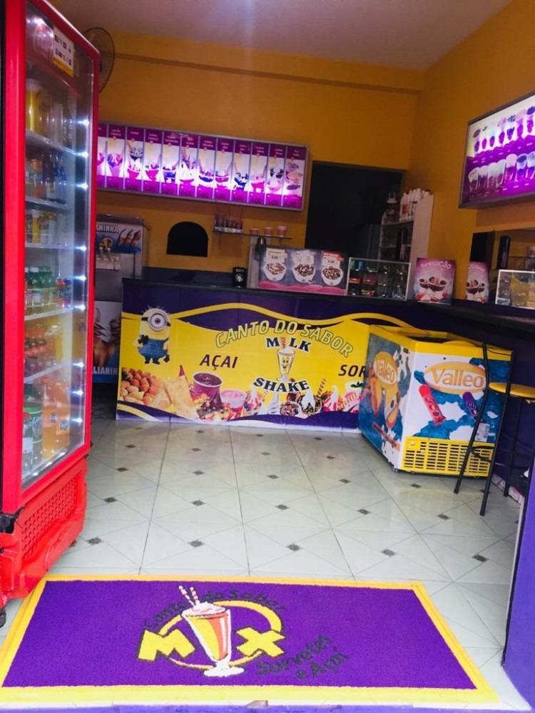 ponto comercial - sorveteria, açai e lanches - loja montada