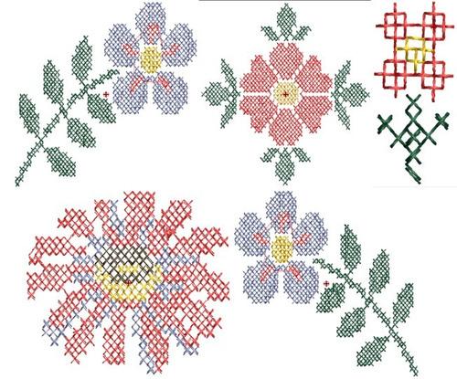 ponto cruz variados 1 - 30 matrizes de bordado - via email