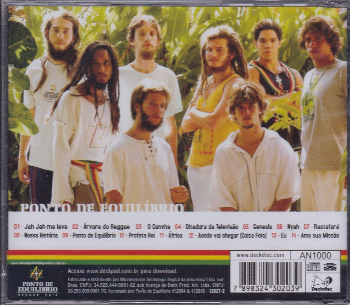 cd ponto de equilibrio reggae a vida com amor