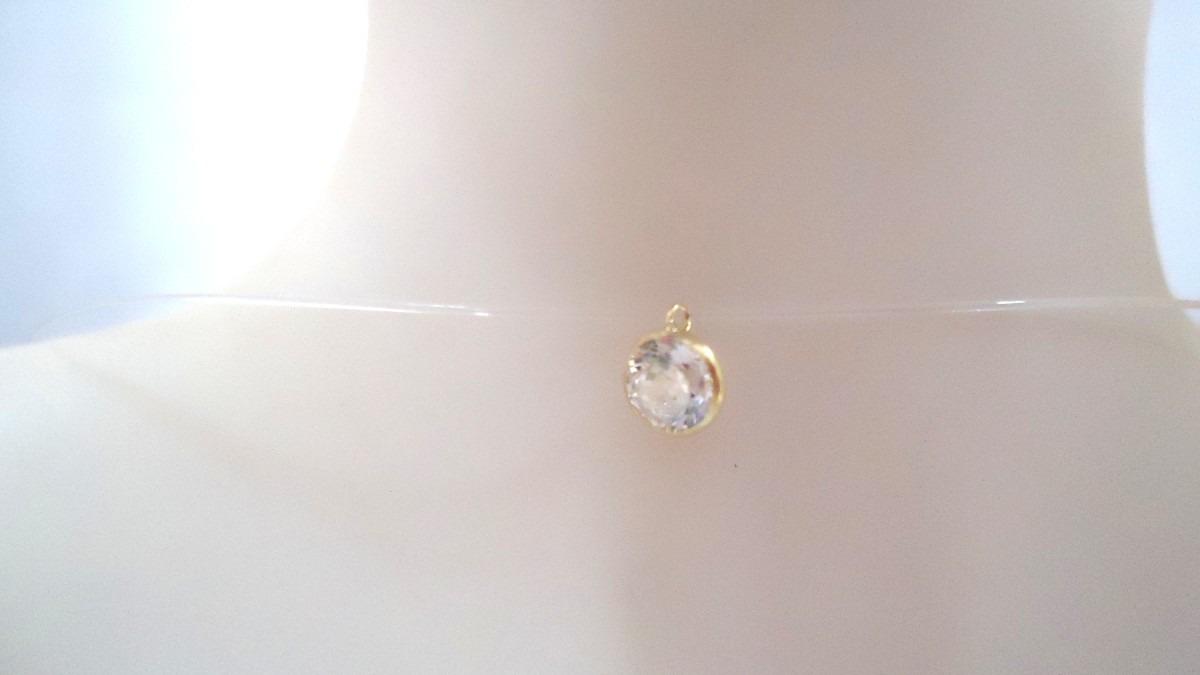 6355a732f67ff ponto de luz 5 mm brilhante gargantilha nylon joia ouro 18k. Carregando  zoom.