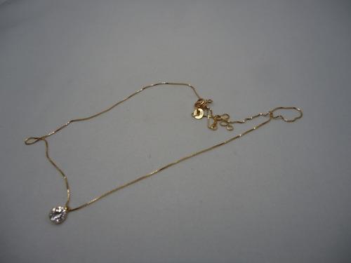 ponto de luz com zirconia de ouro 18k j r joalheiro.