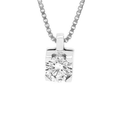ponto de luz de ouro branco 18k  com diamante de 0,25 cts
