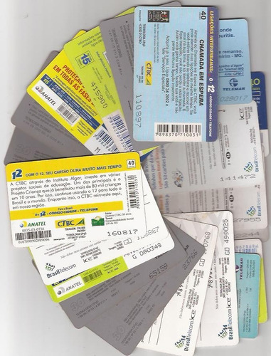 ponto do cartão lote com 2 mil cartões usados