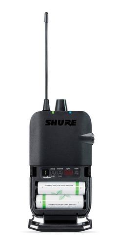 ponto eletrônico s/ fio c/ fone in-ear psm 300 112 gr shure