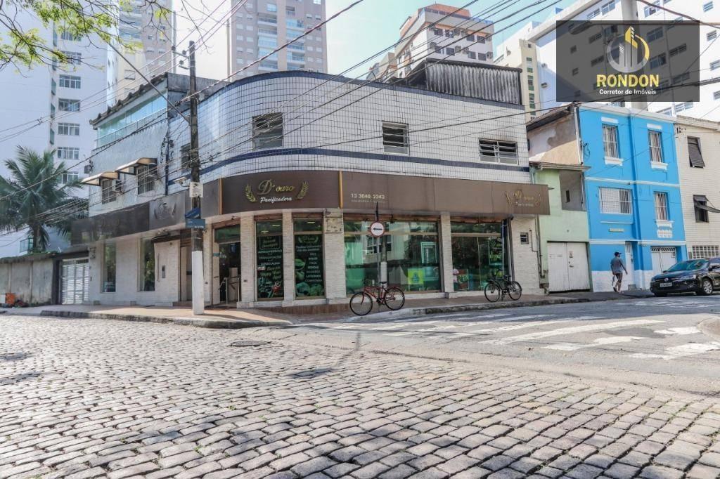 ponto à venda, 500 m² por r$ 900.000 - josé menino - santos/sp - pt0002