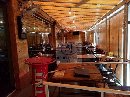 ponto à venda, bar e restaurante top, 400 m² por r$ 200.000 - embaré - santos/sp - pt0026