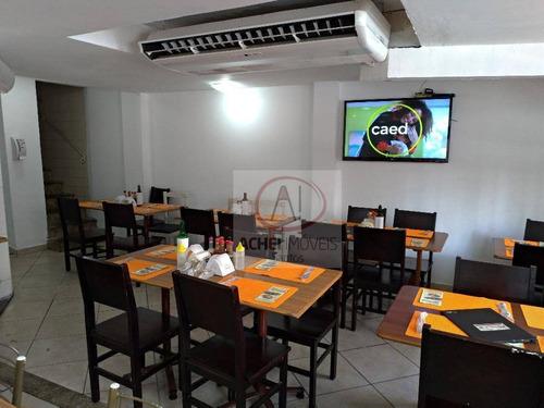 ponto à venda, restaurante no centro de santos, 300 m² por r$ 160.000 - centro - santos/sp - pt0024
