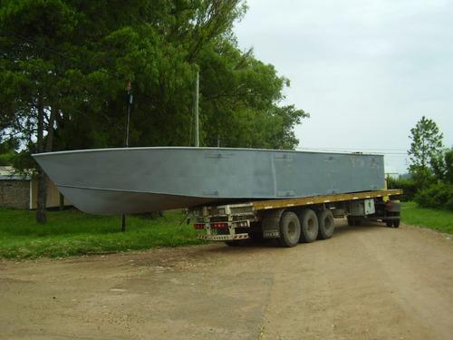 pontón de chapa naval (catamarán, casa flotante, draga etc.)