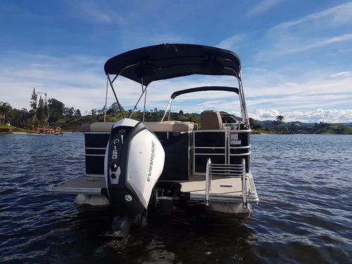 pontoon boat starcraft mx23c  motor evinrude g2 150hp
