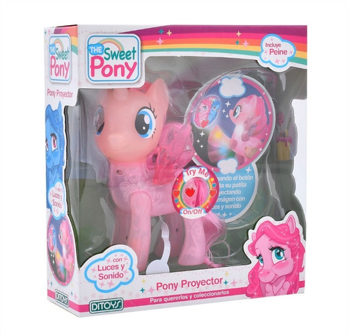 pony proyector the sweet pony luces sonido niños infantil