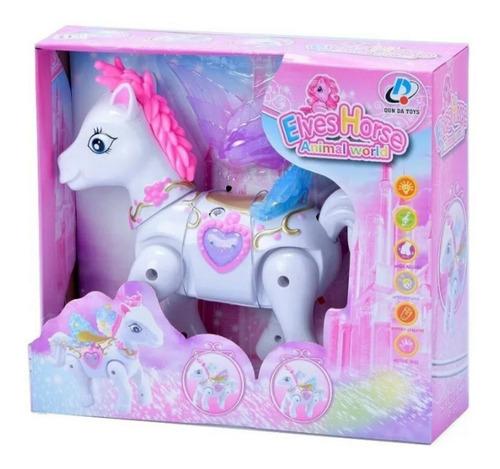pony unicornio camina mueve alas con luces y sonido juguete