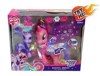pony x2 (mama y bebe) try me con alas, c/ accesorios, luces
