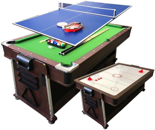 pool, air hockey y ping pong mesas de juego 4x1