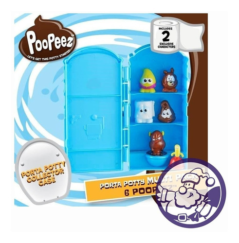 pooppeez multi pack 6 unidades con porta potty