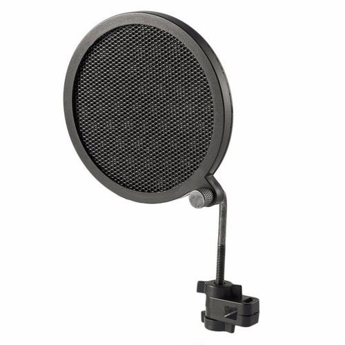 pop filter anti puff para microfone mini frete grátis