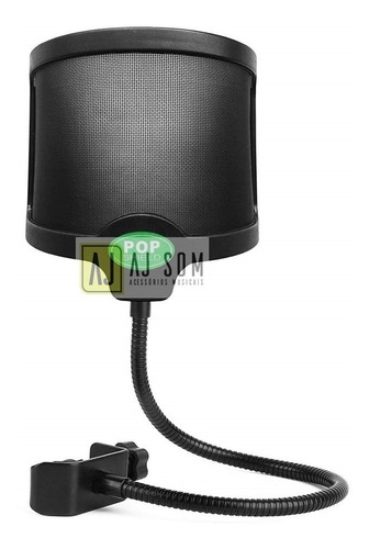 pop filter,filtro,anti puff p/microfone arcano black,akg