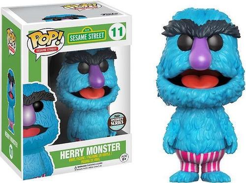 pop! funko 123 sesame street  herry monster nº11