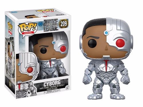 pop! heroes: justice league - cyborg - nuevo - blue marble