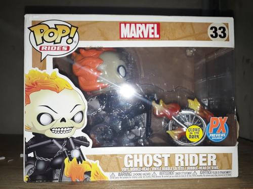 pop! rides: marvel - ghost rider with bike fluorescente 33