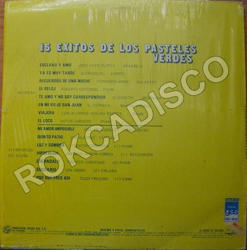 pop sudamericano, los pasteles verdes, 15 exitos, lp 12´