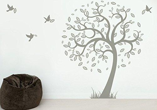 popdecors - árbol de la esperanza con los pájaros de vuelo