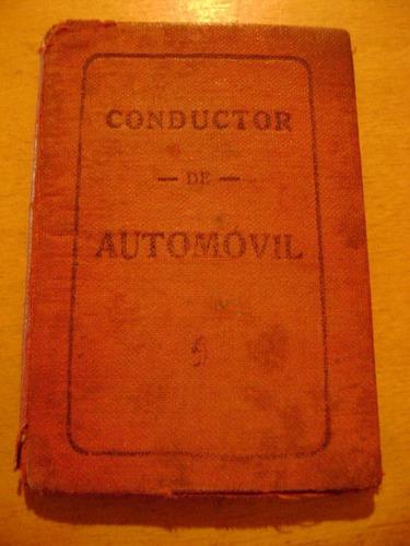 popei.- carnet de conducir de moron 1929
