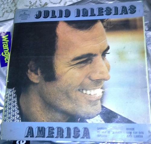 popei.- disco vinilo de julio iglesias america