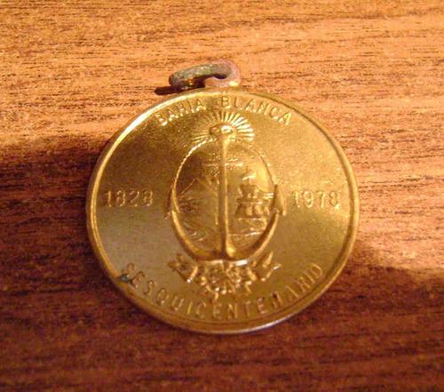 popei.- medalla de 150 años fundacion de bahia blanca