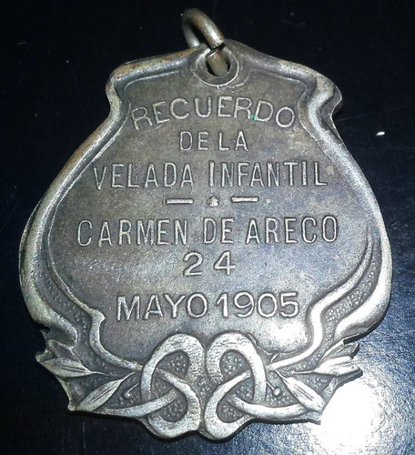 popei.- medalla de 25 de  mayo 1905 san antonio de areco