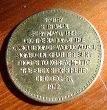 popei.- medalla de homenaje a presidentes de eeuu truman