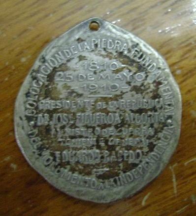 popei.- medalla monumento centenario de 1910 french