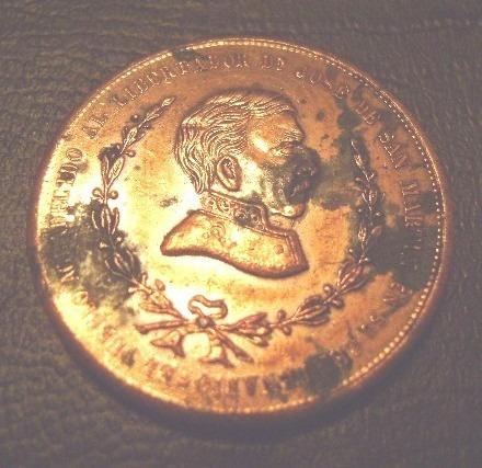 popei.- medalla nacimiento del gral san martin