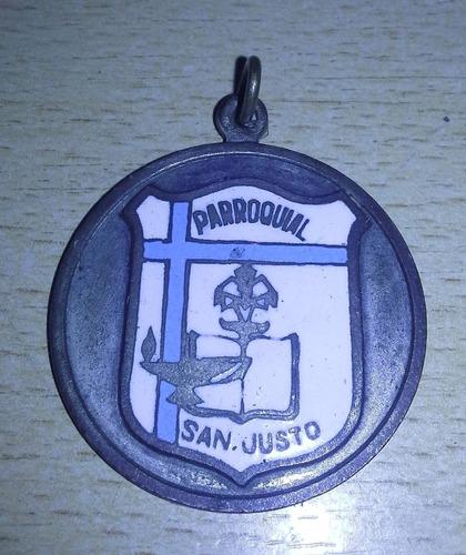 popei.- medalla parroquial de san justo
