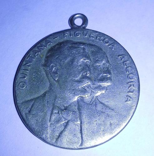 popei.- medalla presidencia quintana - alcorta