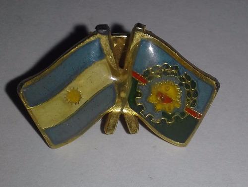 popei.- pin de bandera argentina y prov de bs as