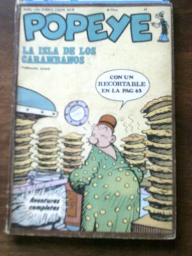 popeye #19 aventura completa con 64 paginas año 1974