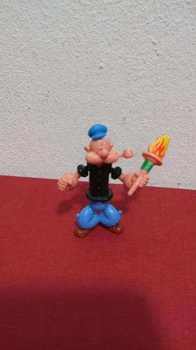 popeye con antorcha huevo kinder figura