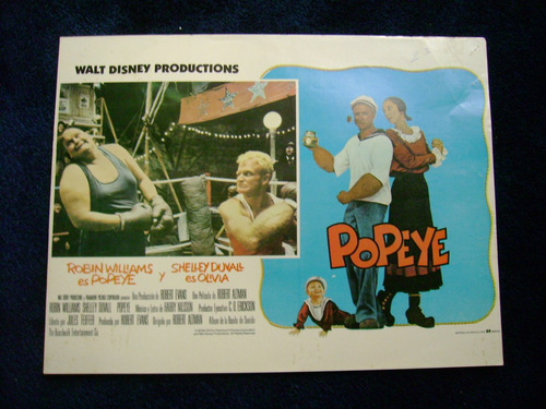 popeye robin williams walt disney cartel poster a 21.9