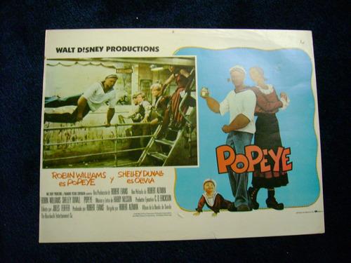 popeye robin williams walt disney  cartel poster b 21.9