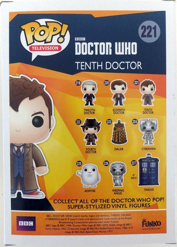 pop!funko 221 doctor who tenth doctor