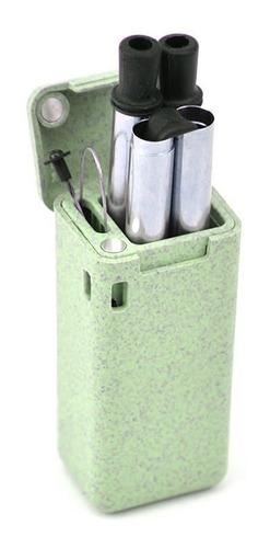 popote reusable reciclable flexible reutilizable ecológico - acero inoxidable